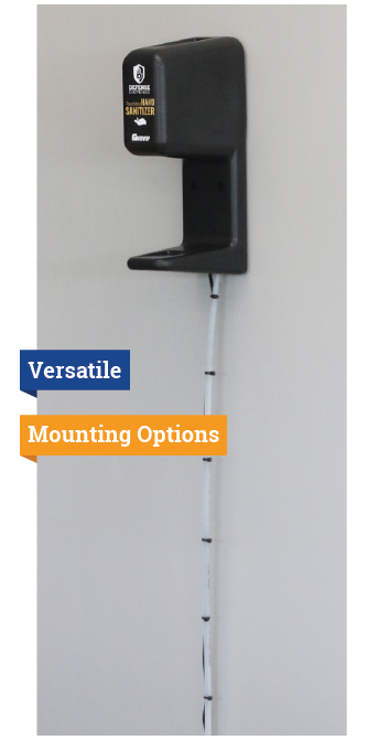 "No Stand system with the words ""versatile"" and ""mounting options"" on the side"